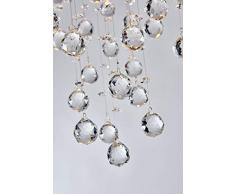 Moderno cristallo goccia di pioggia lampadario illuminazione a incasso LED plafoniera lampada a sospensione per sala da pranzo bagno camera da letto soggiorno 4 GU10 LED Lampadine richiesto