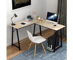 Soges Scrivania per ufficio computer L(120+90) * W48 * H75 cm scrivania angolare Tavolo per Computer 701T-WM