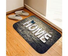 Hupoop Tappeto antiscivolo con tappetino antiscivolo per tappeti 40X60 CM Assorbe tappetino da cucina/coperta per acqua (C)