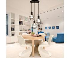 bayc Heer Retro industriale lampadario industriale lampadario lampada da soffitto regolabile in altezza E27 per soggiorno sala da pranzo ristorante