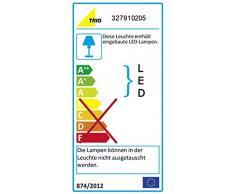 Trio 327910205 Lampada LED a Sospensione in Alluminio Spazzolato, 4.5 Watt, 350 Lumen, argento