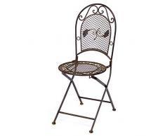 Nostalgia da giardino in ferro battuto 9kg sedia pieghevole stile antico ferro