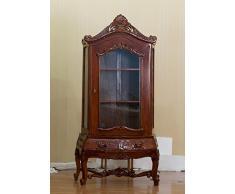 """Stile rococò armadio in stile credenza vetrinetta pensile """"Louis sequestrare"""" armadio colore: legno di noce Höhe198cm xBreite100cm"""