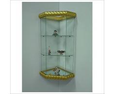 """Vetrina angolare da parete art. VM504T-D con Basi """"Decorated Style"""" (Gold Arabic Style)"""