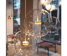 NFY Illuminazione postmoderna scandinava Sfera di Vetro Creativo Bubble Bar Negozio di Abbigliamento Soggiorno Sala da Pranzo lampadari Testa Singola,A,Testa Singola