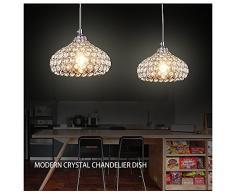 Plafoniera di cristallo,Fy-Light Modern Style K9 Crystal Flush Mount 1 Light Cup paralume Lampadari a soffitto per sala da pranzo, camera da letto, soggiorno, ristorante, bar