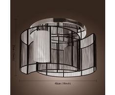 ALFRED® Plafoniera design moderno camera da letto 2 luci nero, Mini Style incasso, Lampadari di Corridoio, sala da pranzo, salotto
