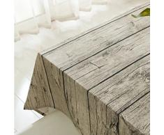 Vintage rettangolo cotone tovaglia di lino, Yanyi Brand legno banda panno tavolo da pranzo per la casa Hotel Cafe Restaurant, resistenza al calore e all'umidità 140*180cm(55*71inch)