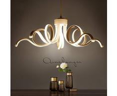Nuovo design D65cm moderni lampadari per soggiorno sala da pranzo acrilico corpo in alluminio illuminazione a LED lampada da soffitto infissi