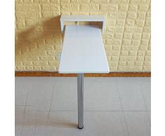 ZR-Tavolo da Parete Tavolo Pieghevole a Muro a ribalta, Tavolo da Cucina in Legno e Tavolo da Pranzo, 9 Dimensioni Bianco -Salva Lo Spazio (Dimensioni : 115 * 30 * 111cm)