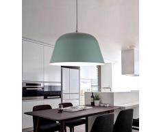 SJUN Lampadario Soggiorno Sala Da Pranzo Moderna Nordico Del Metallo,40 Cm * 24 Cm,Verde