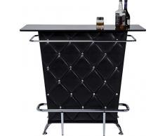 Kare 75900 - Bancone bar colore nero con swarosky, L120 h104 p52cm