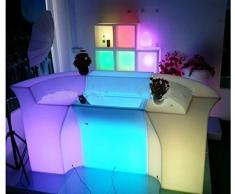 Gowe telecomando LED bancone bar luminoso, Polydeco bar, LED Jumbo da bar, batteria Rundbar LED Bartresen mobili