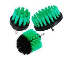 Spazzola Oxoxo per trapano - spazzole da 5,1 cm, 7,6 cm, 10,2 cm di media rigidità per strofinare per pulire docce, vasche, piastrelle del bagno, tappeti da cucina