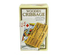 House of Marbles - Gioco da tavola Cribbage, con carte, chiodini e tavoletta di legno