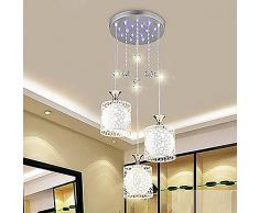 Tre lampadari ristorante semplice moderna sala da pranzo soggiorno illuminazione cristallo balcone personalità creativa sala da pranzo da pranzo lampadari , 3