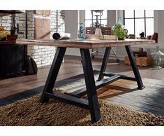 Tavolo da pranzo legno antico 160x90x76 Multicolore laccato INDUSTRIALE #84