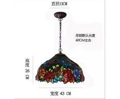 Lampadario Tiffany paese americano europeo deco arte classica lampade in vetro colorato soggiorno sala da pranzo lampadario