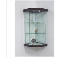 VM ART DESIGN GLASS Vetrinetta Angolare da parete art. VM502T-TR-NS