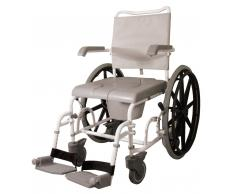 Drive Medical Sedia da doccia comodissima con ruote posteriori da 24� (B CARRCOM24)