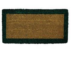 CASA TESSILE Bordo zerbino scalino in Cocco 25x50 cm. - Verde