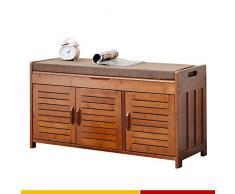 LJFYXZ Portascarpe con Cuscino Scaffale Mensola Organizzatore con 2 armadietti Ingresso, Soggiorno, Corridoio Cassapanca da Interno Mobile Bagno (Size : 90x32.5x49cm)