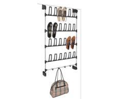 Porta scarpe scarpiera cremagliera 12 coppia di mensola in plastica 68,5x20x113,5 scarpe acciaio