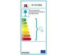 Reality R11073002 Lüster Lampadario, 40 W, Nero, Diametro 46 cm, incandescente, acrilico