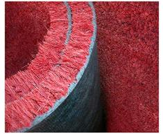 Zerbino in cocco rosso bordeaux su misura spessore 17 mm.. Zerbino tinta unita. Multipli di 10 cm per 1 mt di altezza.Esempio per una misura di 100 x 50 cm inserire 5 nella quantita'. Per una misura di 100 x 70 cm inserire 7 nella
