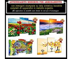 Attaccapanni Appendiabito a muro moderno cm 60 X 90 ( Dimensioni pannelli Cm. 30x50 - 30x50 - 30x50 ) VESPA