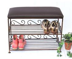 Scaffale per scarpe con panca Art.165 Panca 60cm Scarpiera in metallo Divisorio scarpe Panca