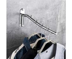 NICEXMAS Appendiabiti in Acciaio Inox con Supporto per Braccio Altalena Appendiabito per Abbigliamento Sistema di Asciugatura a soffitto Appendiabiti da Parete, Appendini per Vestiti