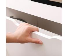 WEIJU FMJ-FXT 40cm 2 livello la scarpa gabinetto, bianco stretto scarpa panchina con cuscino e sede di legno, grande primo scarpe rack per sala, corridoio d'ingresso, ect.