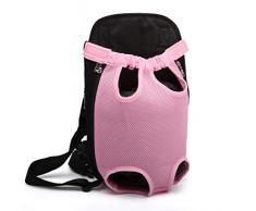 CS-LJ Zaino portante per Cani, portacappelli per Animali Domestici con Visiera Traspirante e Spallacci Imbottiti per Escursionismo all'aperto