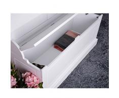 Panana, armadio da corridoio con panca e scarpiera con ganci appendiabiti, 95,6 cm x 34 cm x 180 cm