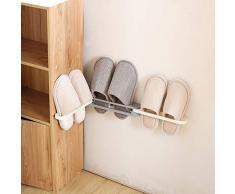 Scaffale per scarpe da casa Scaffale per scarpe da parete in plastica per ingresso sopra la porta Appendini per scarpe Appendiabiti per organizer