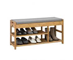 SoBuy® Scarpiera da ingresso, Cassapanca,Portascarpe con cuscino e cassetti,FSR47-N,IT