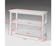 SoBuy® Tavolo consolle, Base Credenza,Mobile ingresso,bianco, FSB06-W,IT