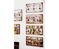 Haku Möbel 42955 Appendiabiti a muro MDF/metallo/ceramica multicolore 12 x 60 x 30 cm
