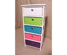 Cassetti comodino armadio corridoio armadio cucina armadio a 5 cassetti colorati cestino