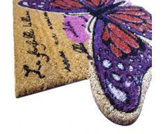 emmevi Zerbino Cocco Farfalla 40 x 75 Tappeto Ingresso Entrata Raschia Fango Retro Antiscivolo MOD.Spring Farfalla