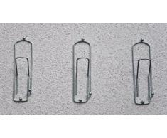 """Ganci-attaccapanni Design""""Graffetta"""" 32cm Guardaroba Ganci-parete Molletta Gancio in metallo (cromo)"""