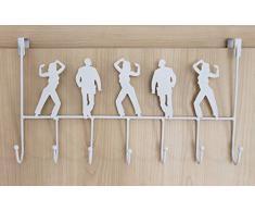 Attaccapanni per porta 131017 Gancio-porta 42cm Guardaroba Gancio-attaccapanni Gancio Ganci-listello (bianco)