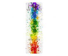 Appendiabiti - Rainbow splatter 139x46x2cm, appendiabiti a muro, appendiabiti da muro, appendiabiti da parete, appendiabiti design