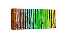 Appendiabiti con Design in bambù colorato gancio attaccapanni appendiabiti da parete DG229