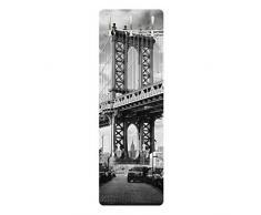 Bilderwelten Appendiabiti - Manhattan Bridge in America - Slender 139x46x2cm, Appendiabiti a Muro, Appendiabiti da Muro, Appendiabiti da Parete, Appendiabiti Design, Dimensione: 139cm x 46cm