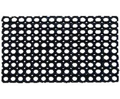 Tata Home Zerbino Bolle in Gomma Flessibile e Resistente 45x75 cm Nero