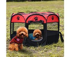 Romdink Portacappelli Portatile per Cani Pieghevoli Indoor Outdoor Cats Coniglio Kennel Rimovibile Copertura Paralume in Rete