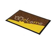 Jago Zerbino tappetino zerbino da ingresso casa di plastica 40 x 60 cm motivo Welcome set da 1