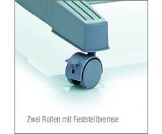 Zeller, Guardaroba Appendiabiti con rotelle, 2 pz, Argento (Silber)